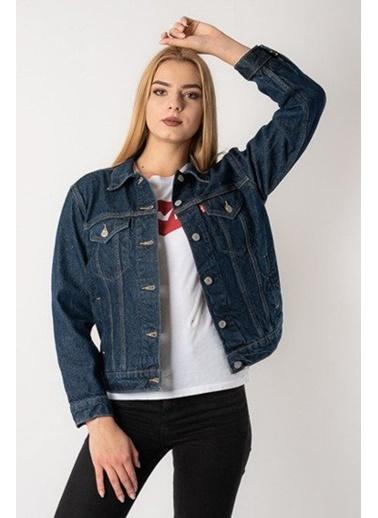 Levi's® 2994400530 Marka Baskılı Düz Yaka Kadın Kot Ceket Renkli